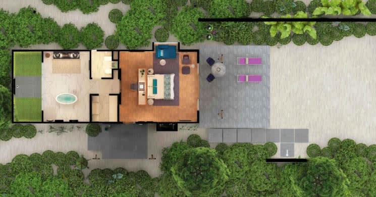 Beach Vill floor plan