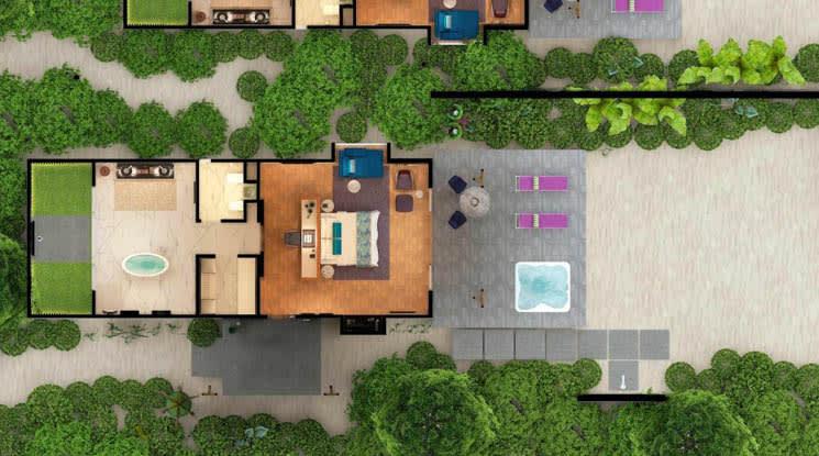 Jacuzzi Beach Villa floor plan