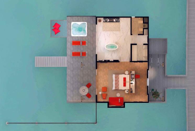 Jacuzzi Water Villa floor