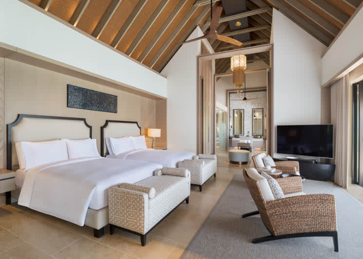 Beach Villa twin beds