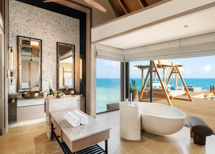 Two and Three Bedroom Overwater and Reef Villa   Bathroom