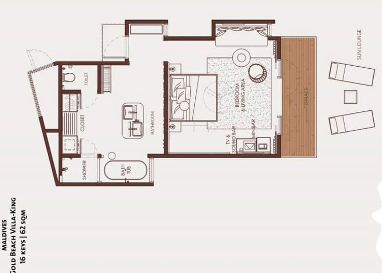 Gold Beach Villa floor plan