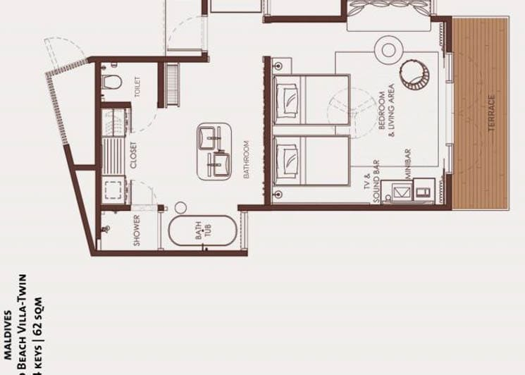 Gold Beach Villa twin floor plan