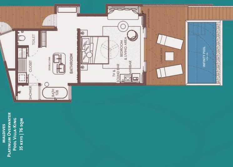 Platinum Overwater with pool floor plan