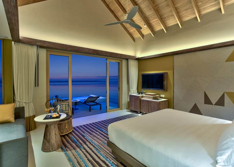 Platinum Overwater Pool villa bedroom