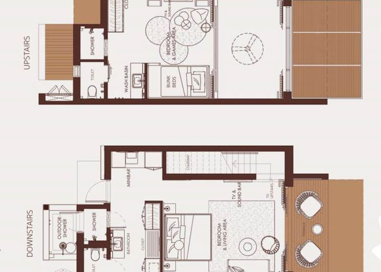 Silver Family Suite floor plan