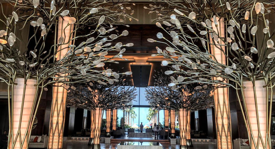 Hotel lobby Dubai