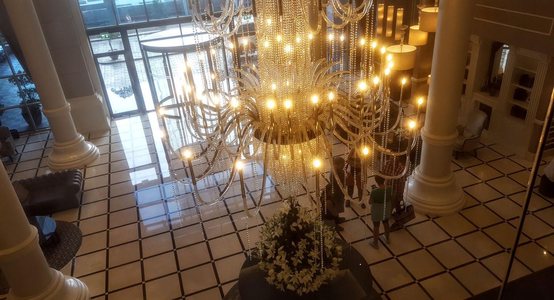 Chandalier lobby
