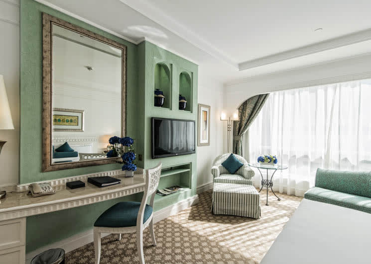Tower Family Room green