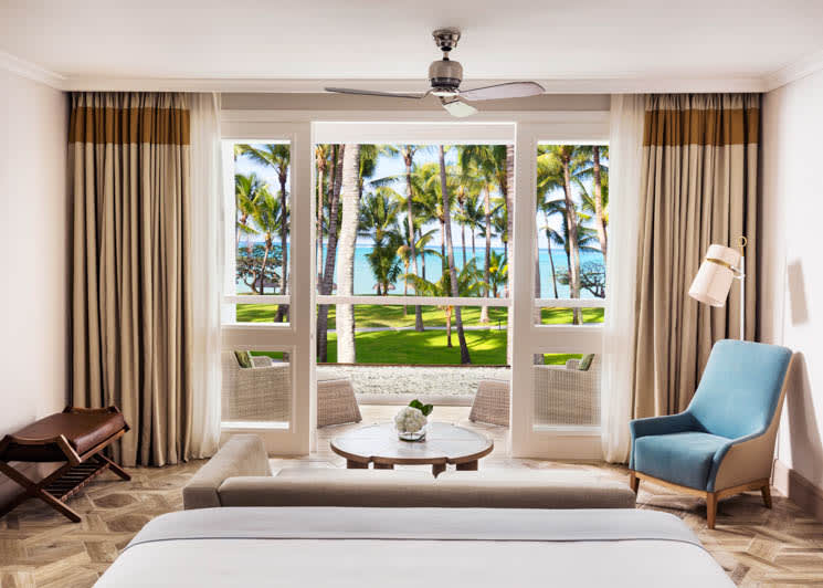 Beachfront suite master bedroom
