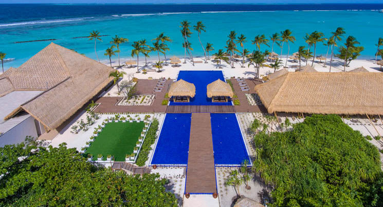 Aerial view of Emerald Maldives Resort & Spa