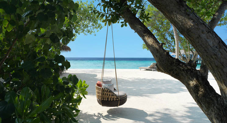 Seat hammock on the beach