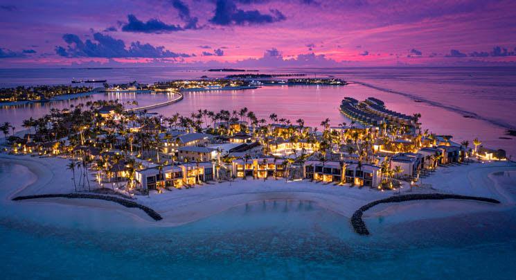 Aerial view of Hard Rock Hotel Maldives