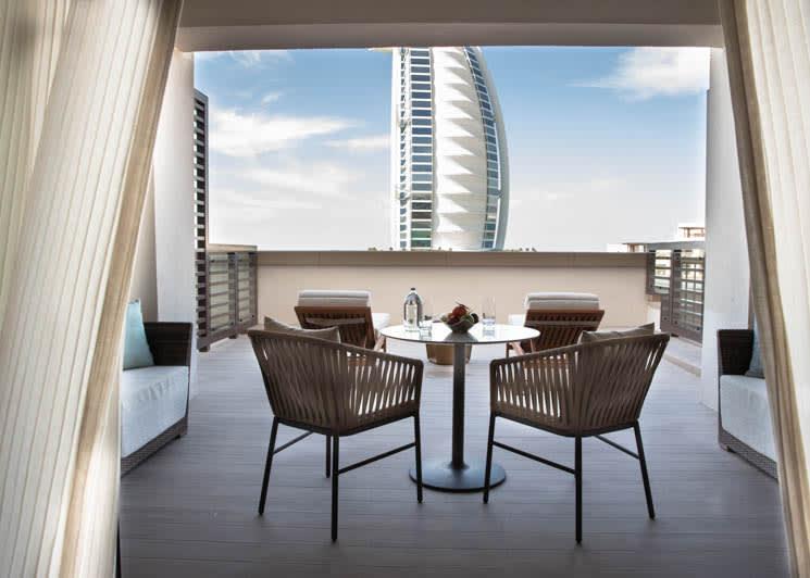 Jumeirah Al Naseem   Ocean Terrace Suite Bedroom   View