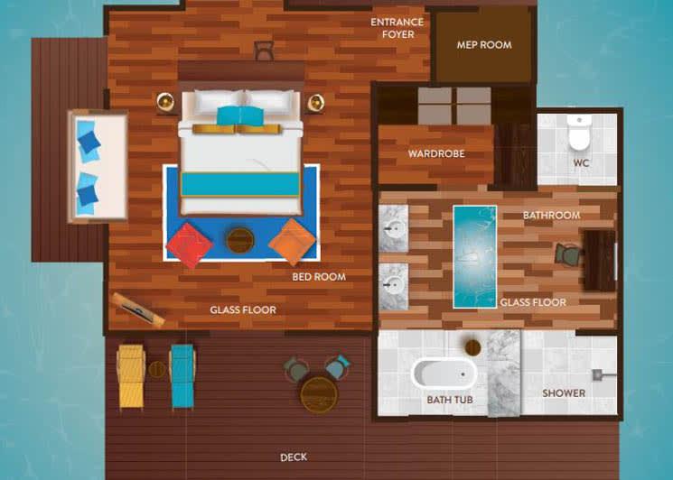 Water Villa floor plan