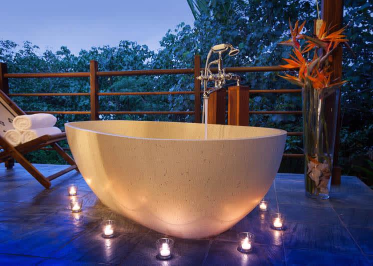 Private pool bath