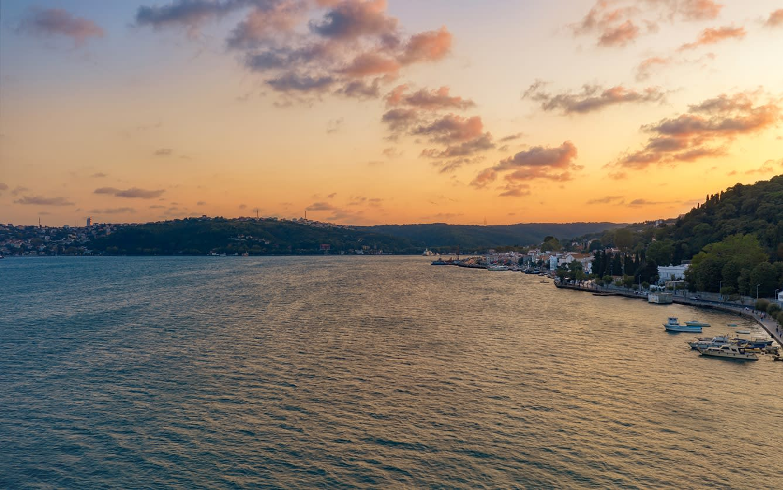 Aerail view of Bosphorus