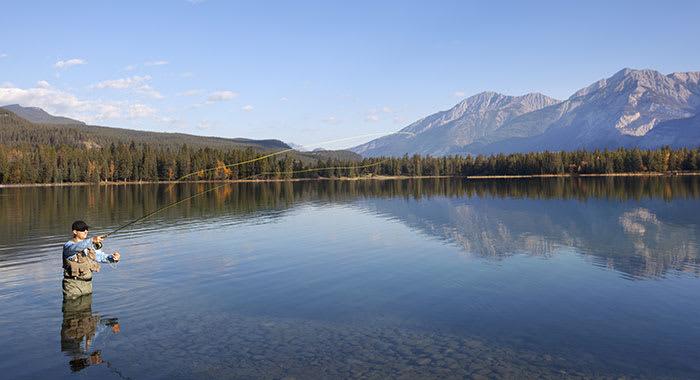 Fishing on the Kamloops Lake