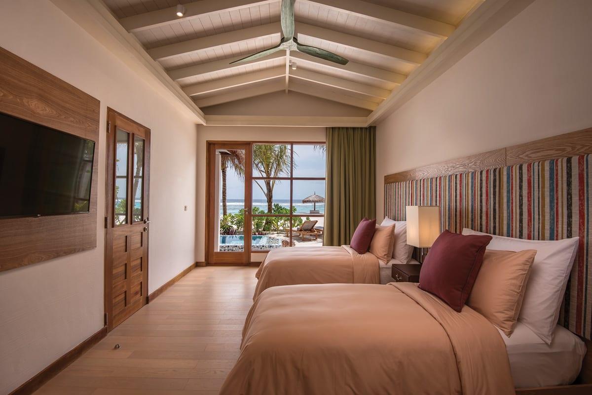 2 Bedroom beach pool suite twin room