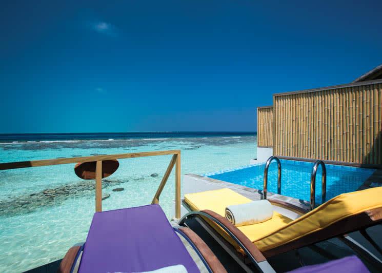 Lagoon villa deck