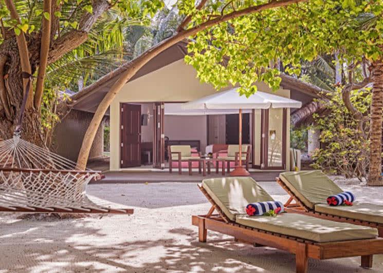 Family beach villa exterior