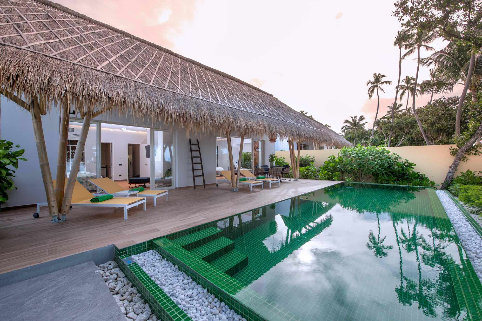 Family Beach Villa with pool exterior
