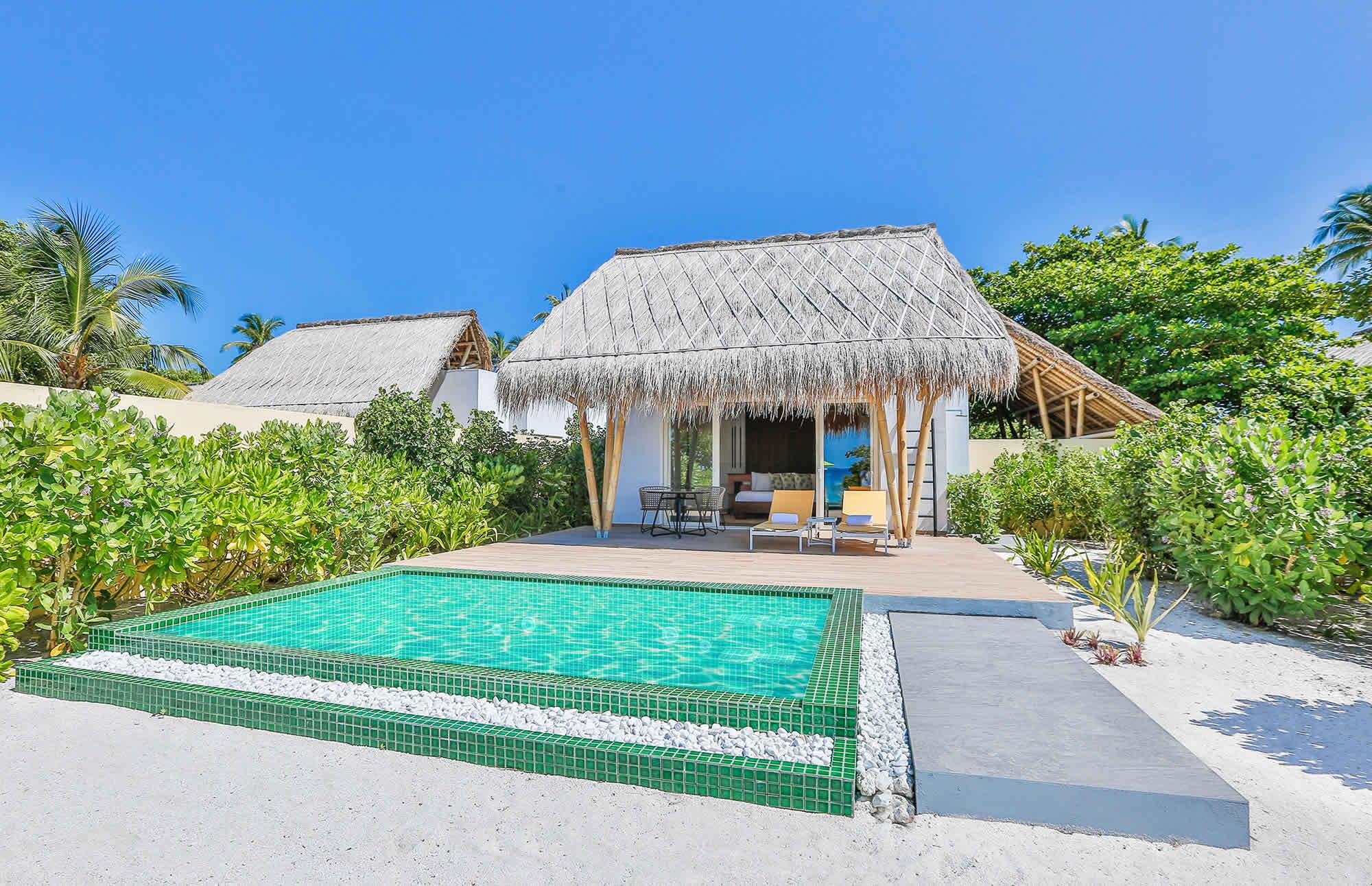 Beach Villa with pool exterior