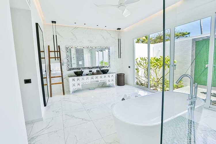 Beach Villa with pool bathroom