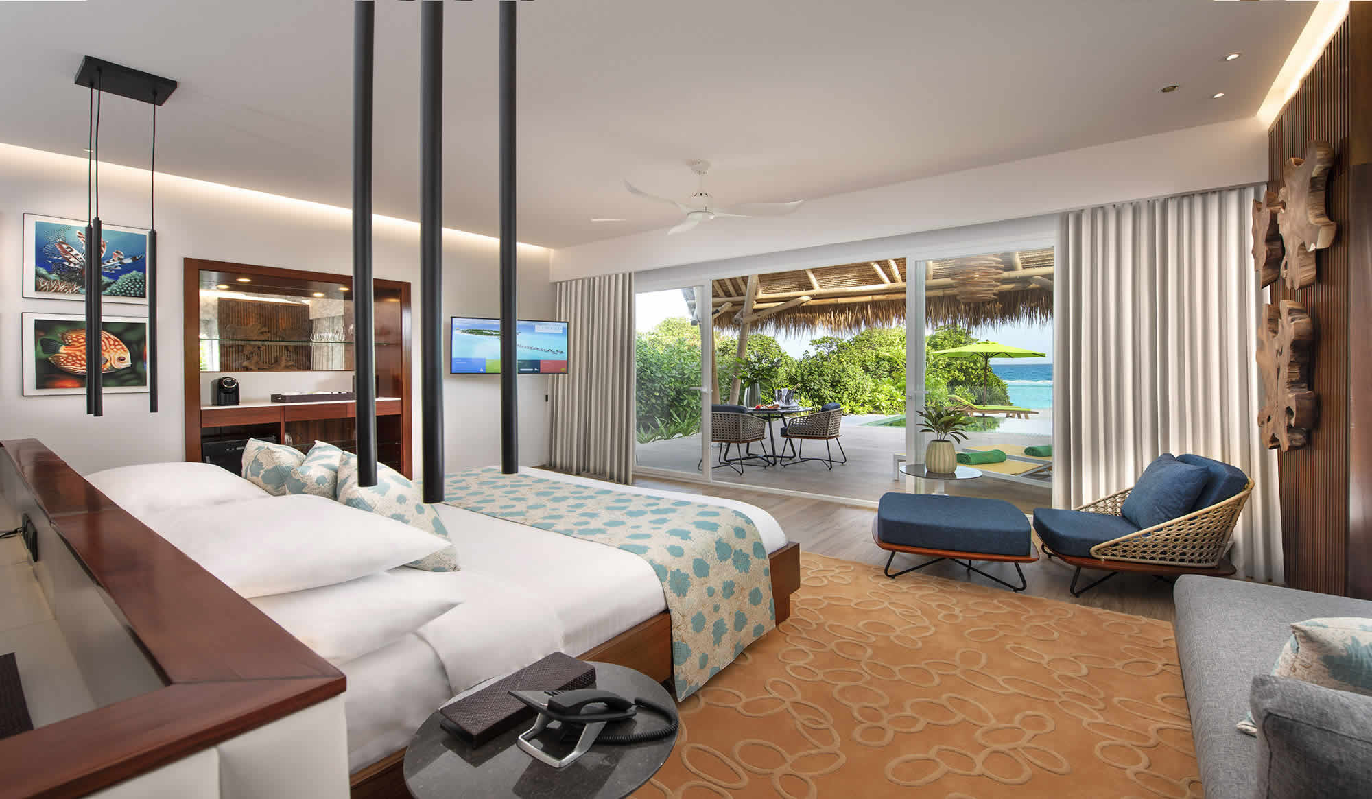 Beach Villa with pool bedroom
