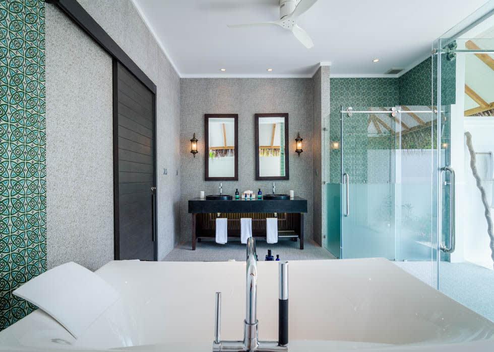 Private pool villa bath