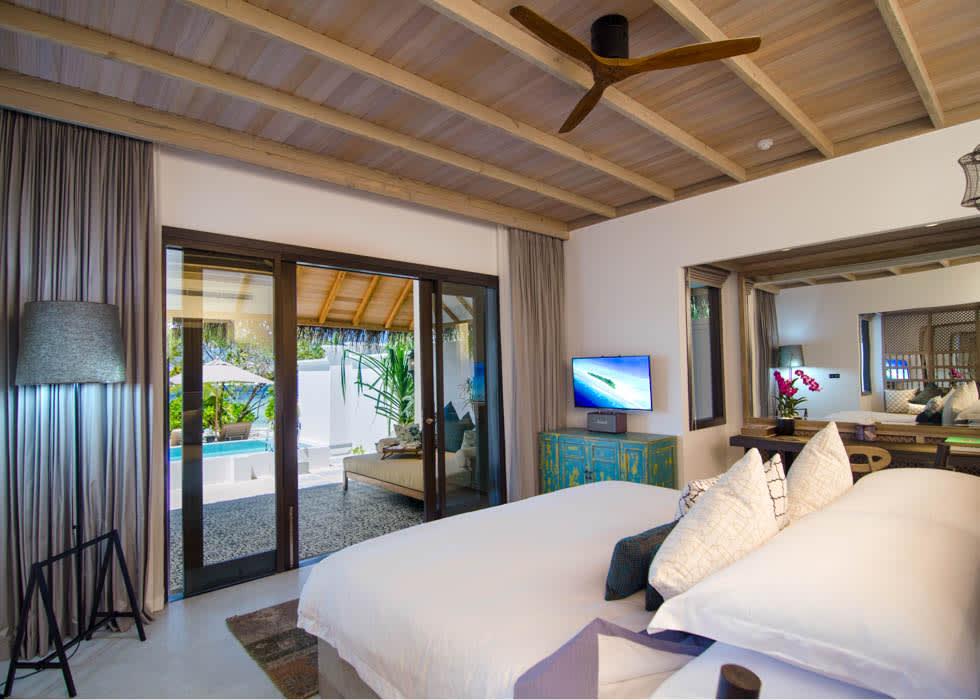 Private pool villa bedroom