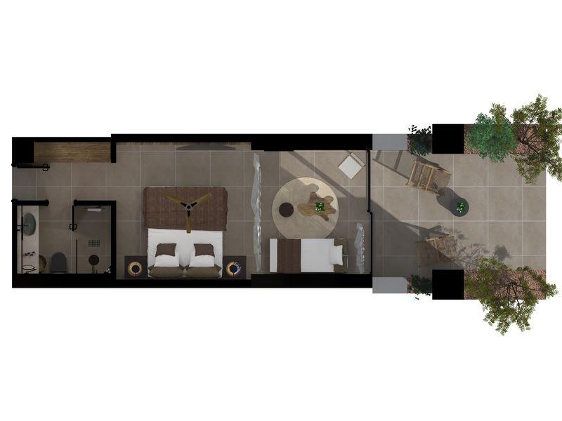 Tropical Open Plan Suite Floorplan