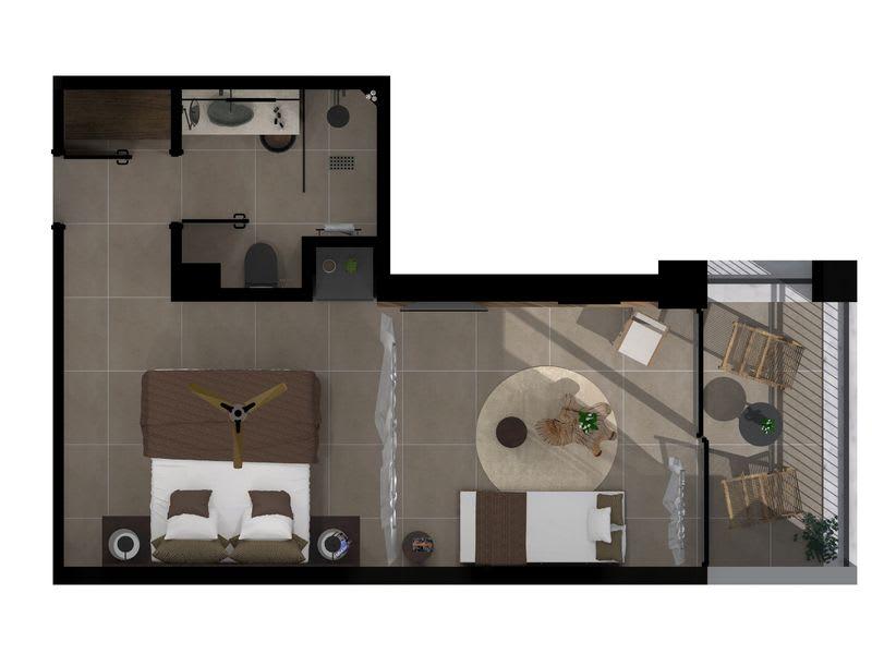 Tropical Sublime Open Plan Suite Floorplan