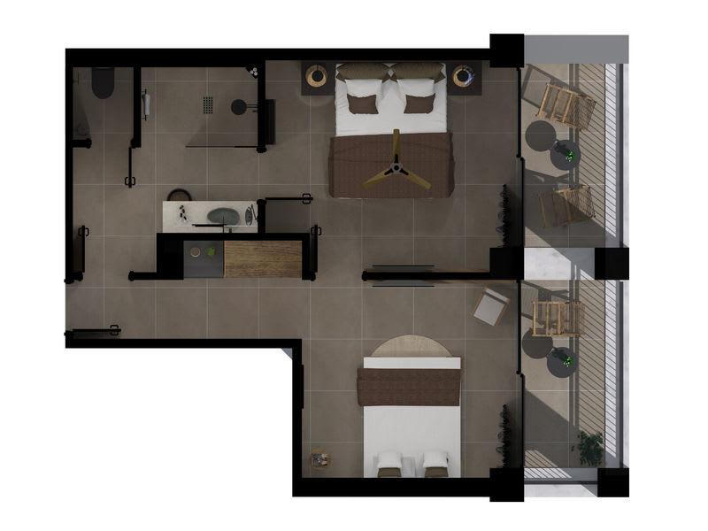 Tropical Sublime Family Suite Floorplan