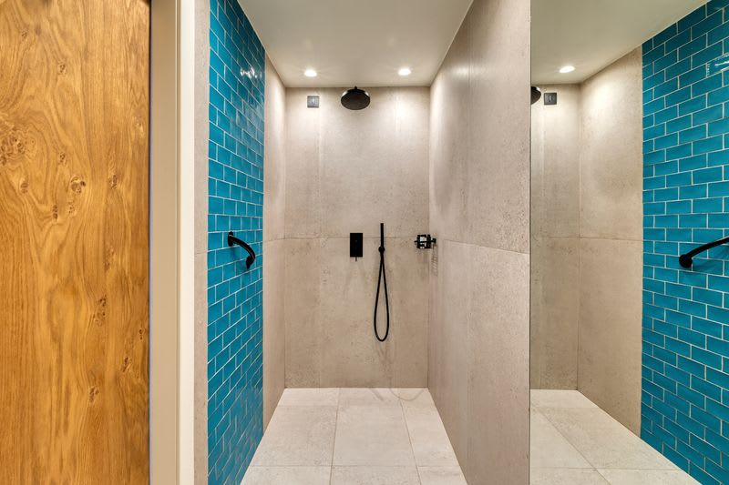 Upbeat Retreat Pool View with Plunge Pool Bathroom