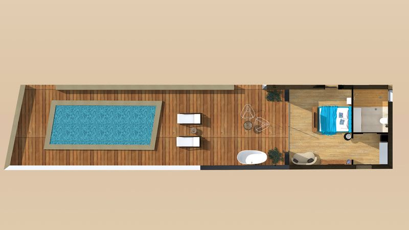 Pure Haven, Sea Front with Private Pool Floorplan