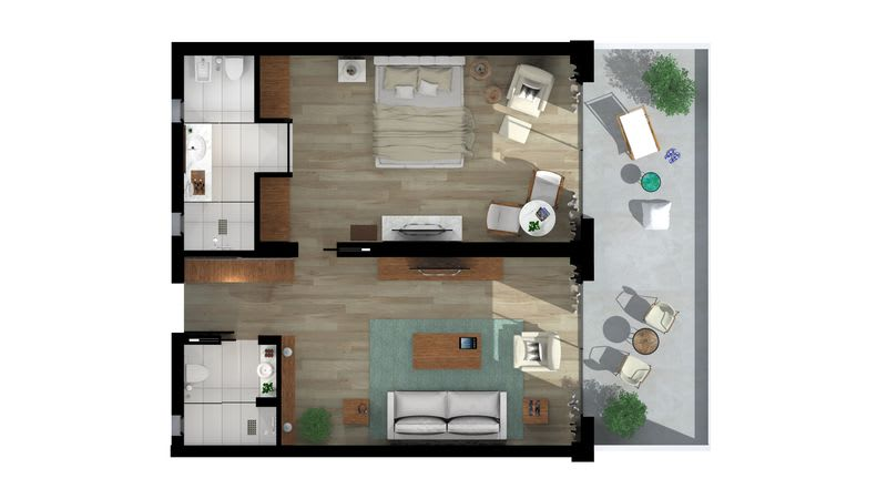 Emerald Suite Sea View Floorplan
