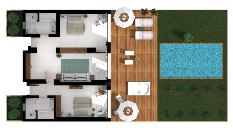 Grand Pavilion Sea View with jacuzzi and pool  Floorplan