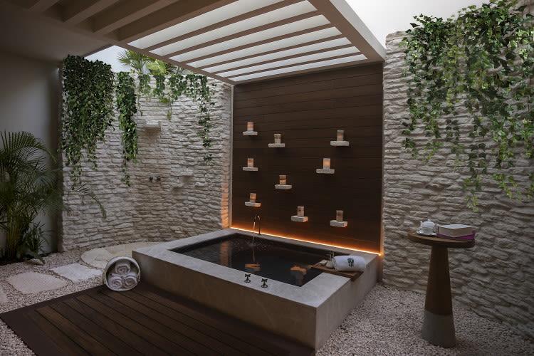 Beachfront Pool Suite Exterior Bath