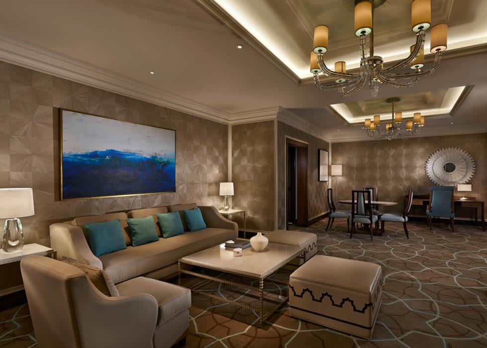 Waldorf Astoria Ras Al Khaimah Tower Suite Living Room December 2013
