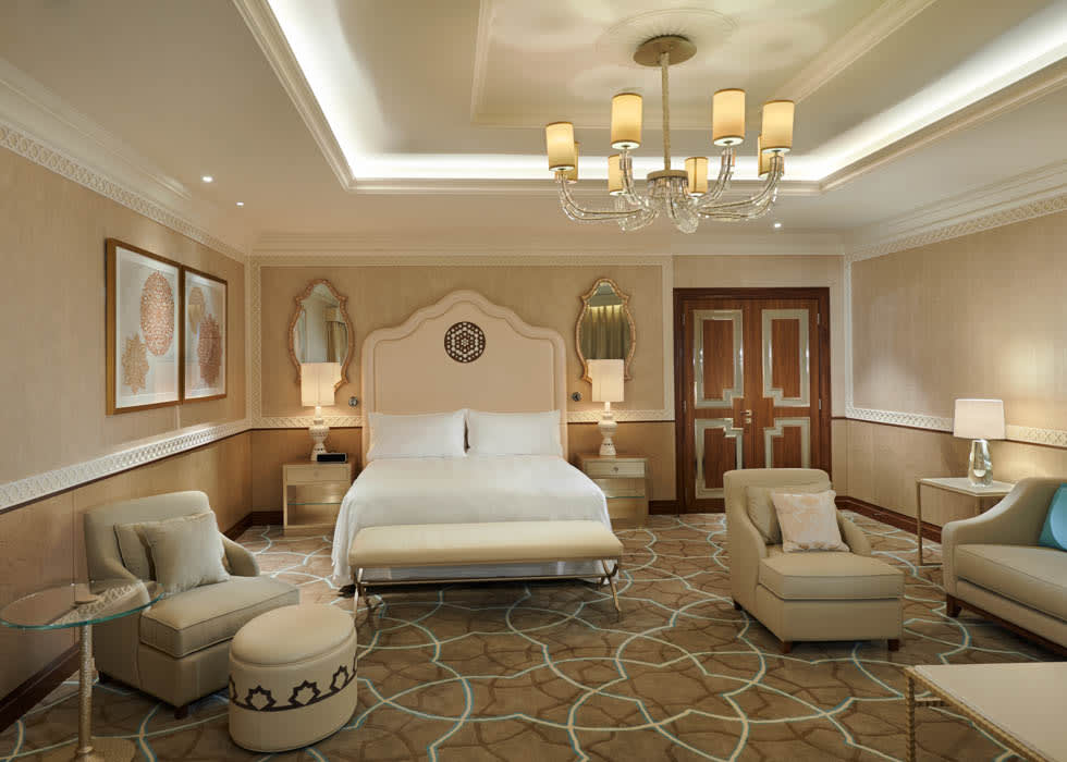Waldorf Astoria Ras Al Khaimah Tower Suite with Balcony Bedroom December 2013 (2)