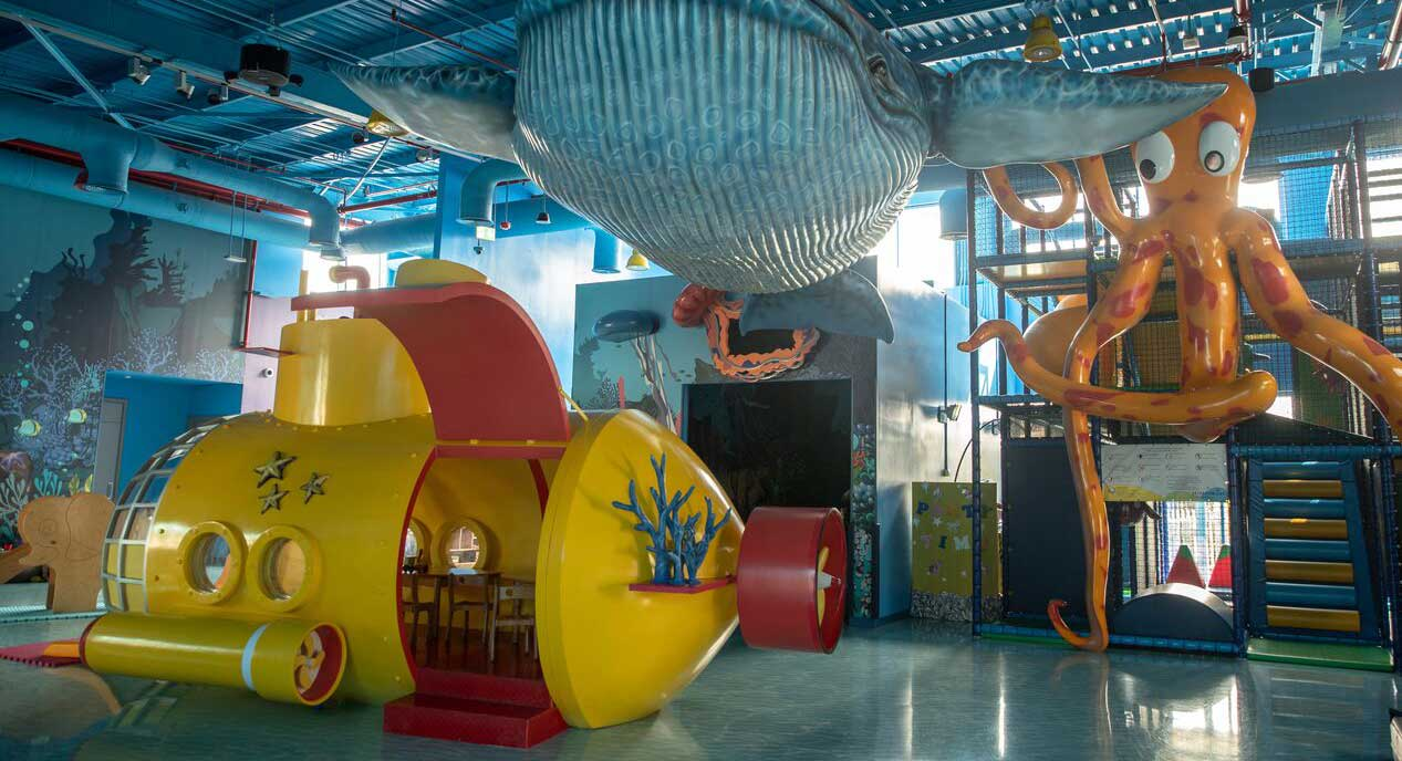 The kids' club indoor activities and toys