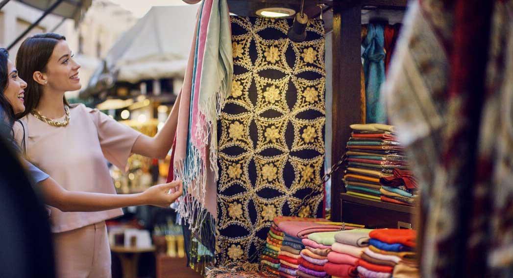 Women shopping at the souk