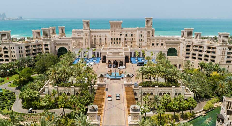 Madinat Jumeirah Al Qasr from above