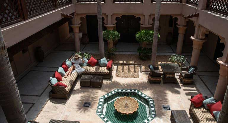 Aerial view of the Arabian inspired lobby