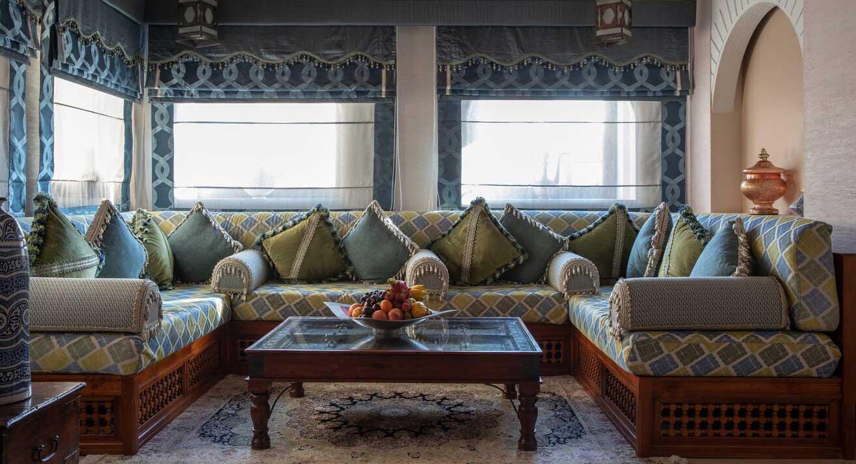 Private villa seating area