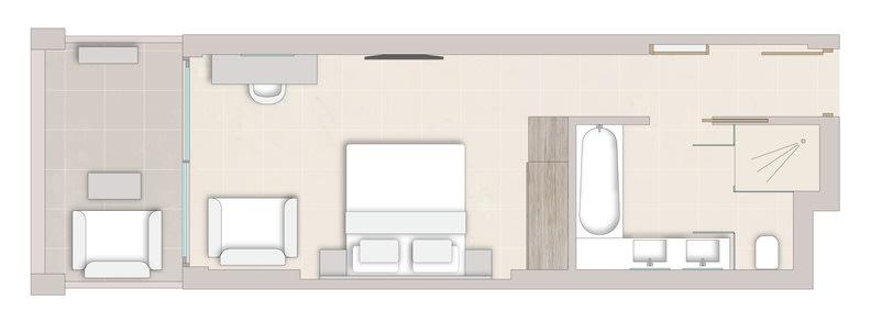 Superior Double Room Floorplan
