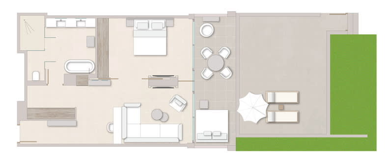 One Bedroom Suite Private Garden