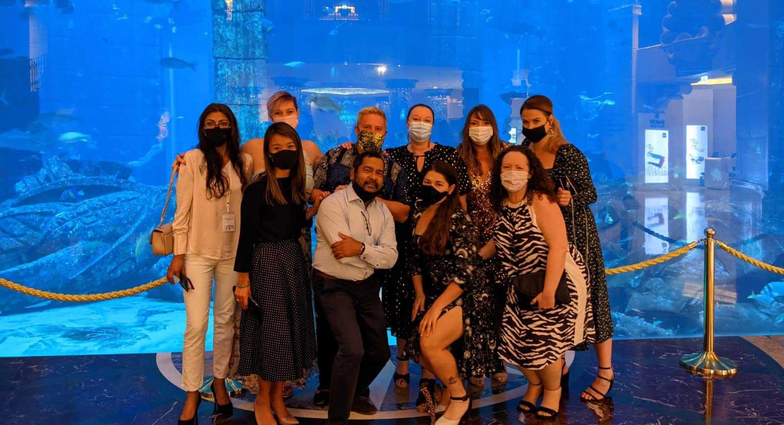 Group photo at Aquatrek
