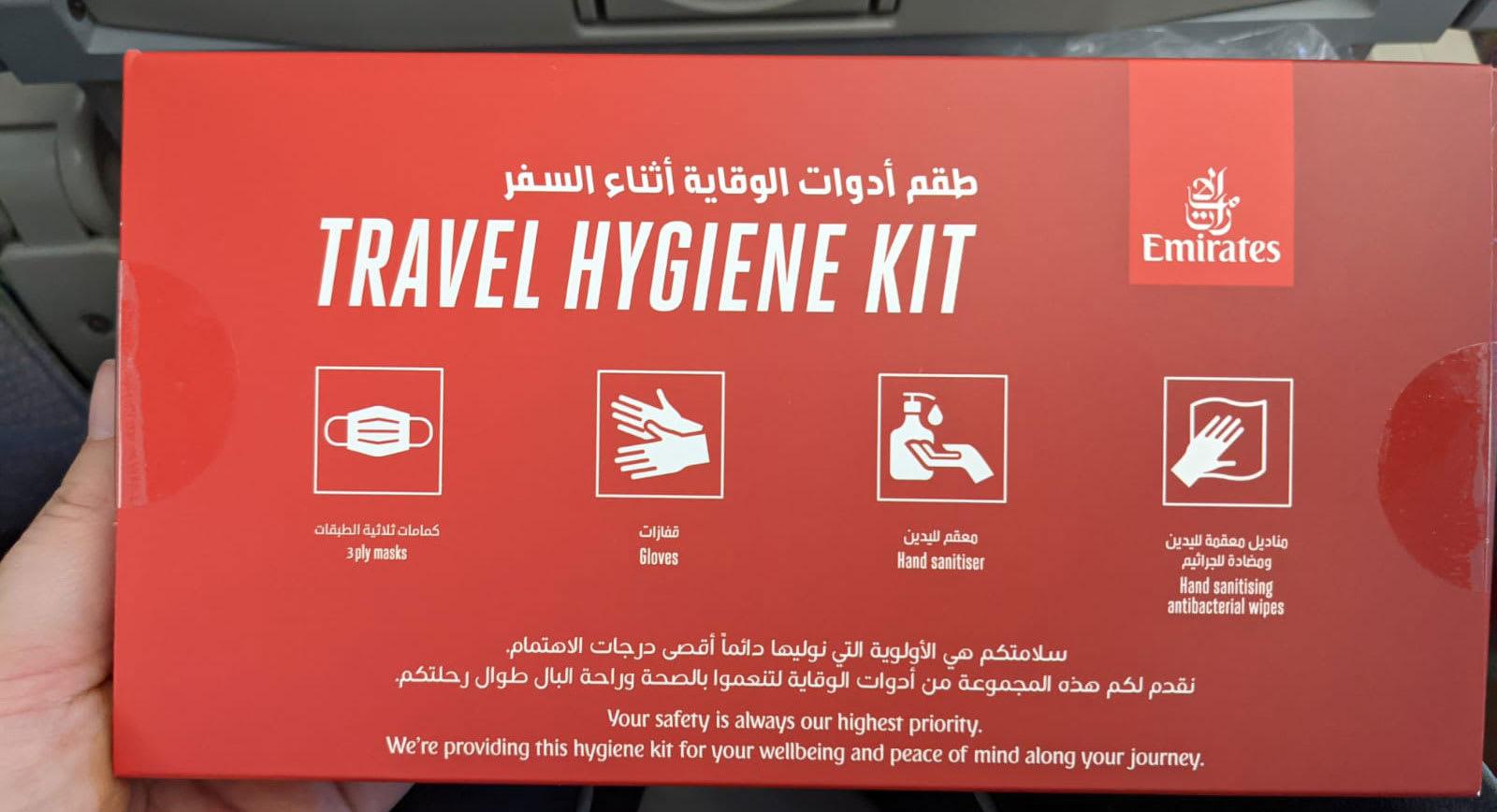 Travel hygiene kit